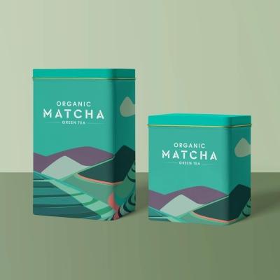 matcha 茶包装插画